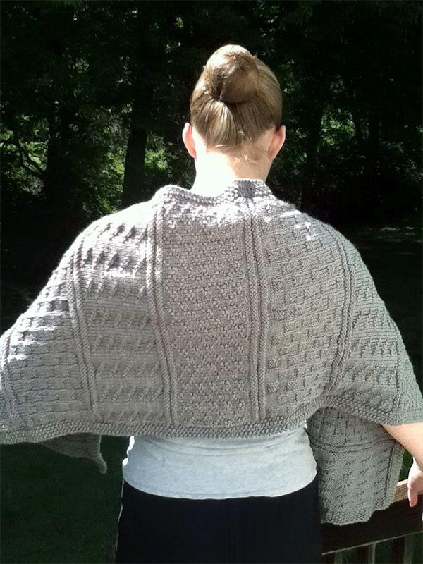 Free Knitting Pattern for Gansey Textured Stitch Wrap ...