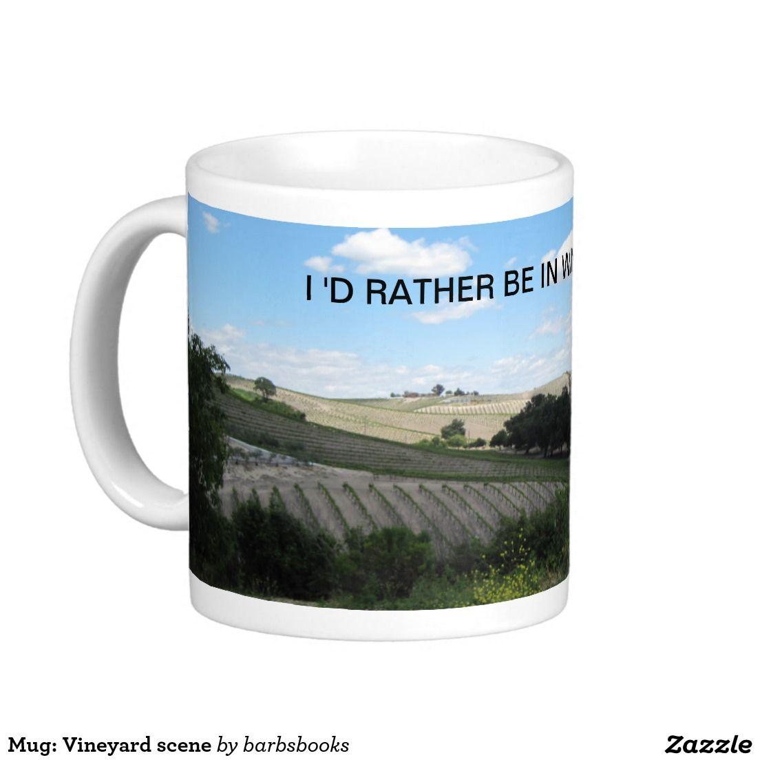 Mug Vineyard Scene Coffee Mug Zazzle Com Mugs White Coffee