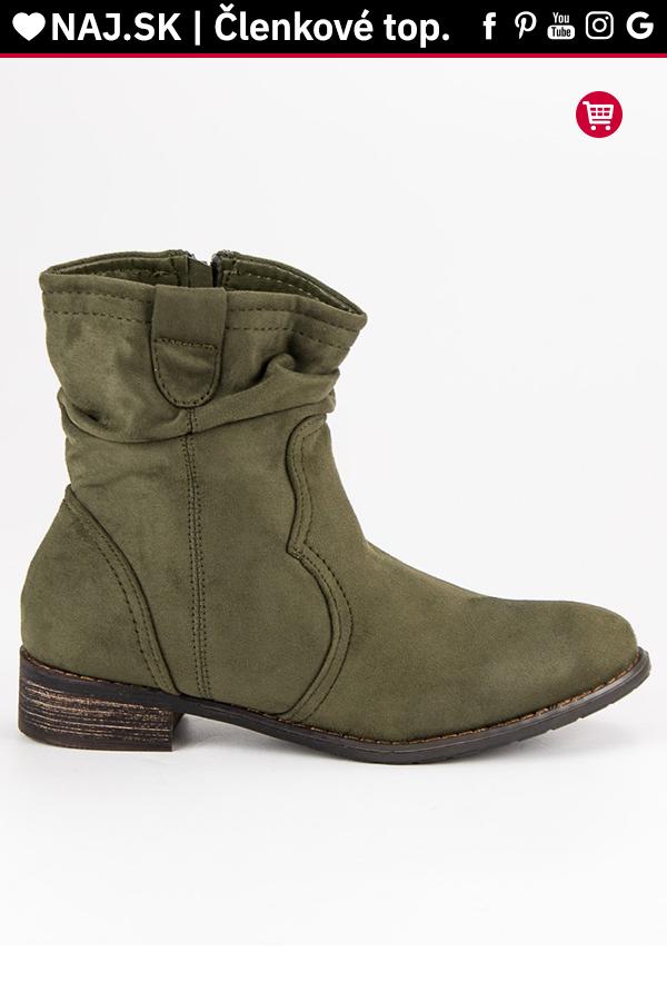 f30cd46b47 Olivové elegantné topánky Nio Nio 99-135OL