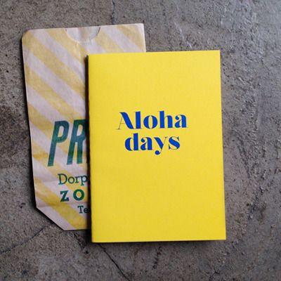 Slim diary - Aloha days by Dear Maison www.dearmaison.com  #diary #Stationery #Alohadays #Hawaii #aloha #dearmaison #travelnote