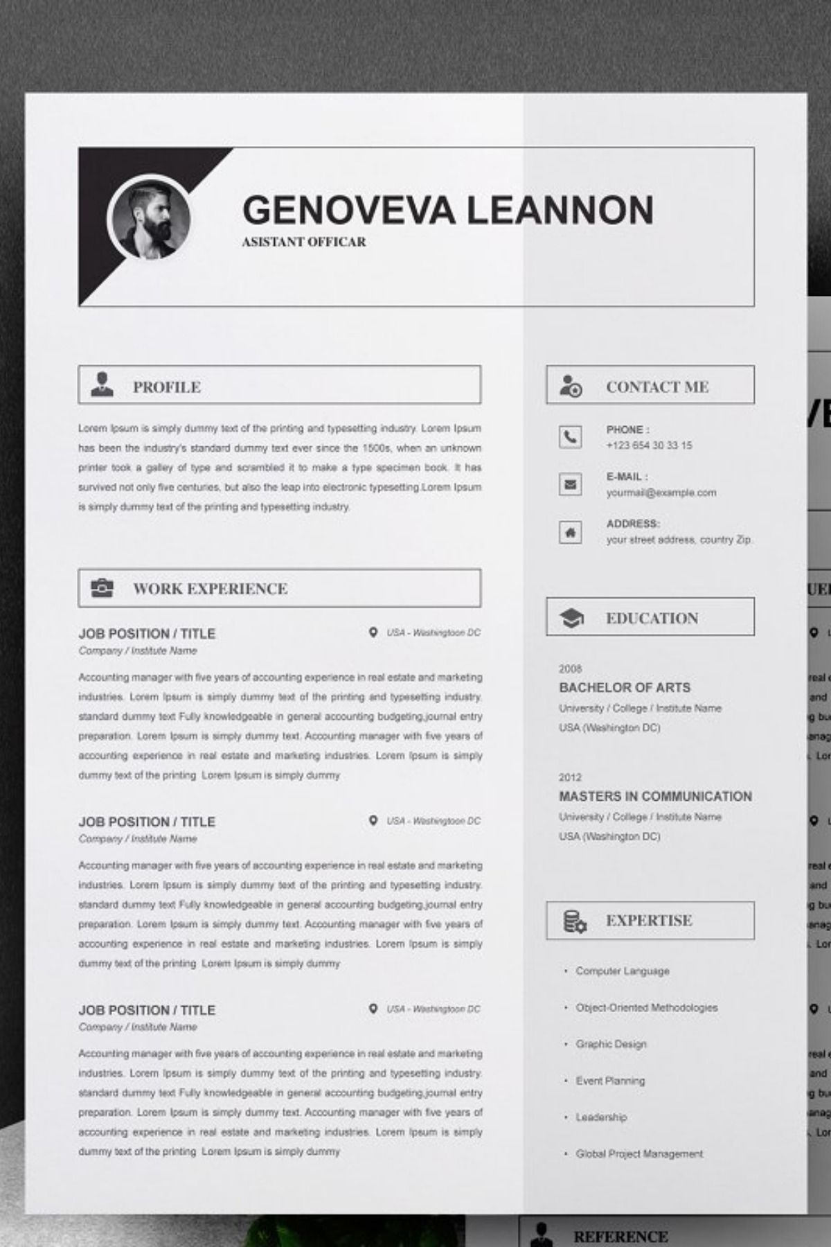 Resume Template And Cover Letter Microsoft Word Document Resume Template Cover Letter Template