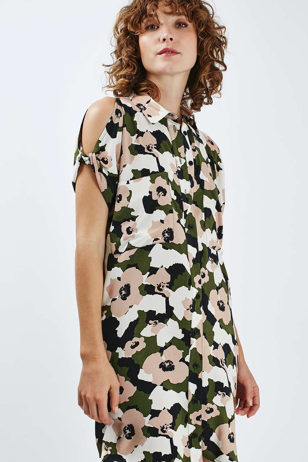 Camo Floral Shirt Dress - Dresses - Clothing in 2019  1702168179