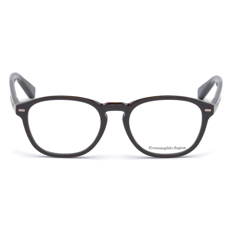 Ez5057 001 Eyeglasses Shiny Black Ermenegildo Frames Zegna Design Men Fashion Site Fashion Accessories