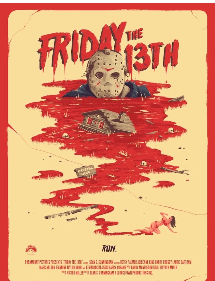 FRIDAY THE 13TH Movie Poster Horror Classic Movie Art Print