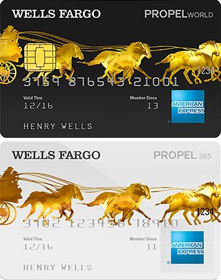 wells fargo propel american express® card - Artistically one