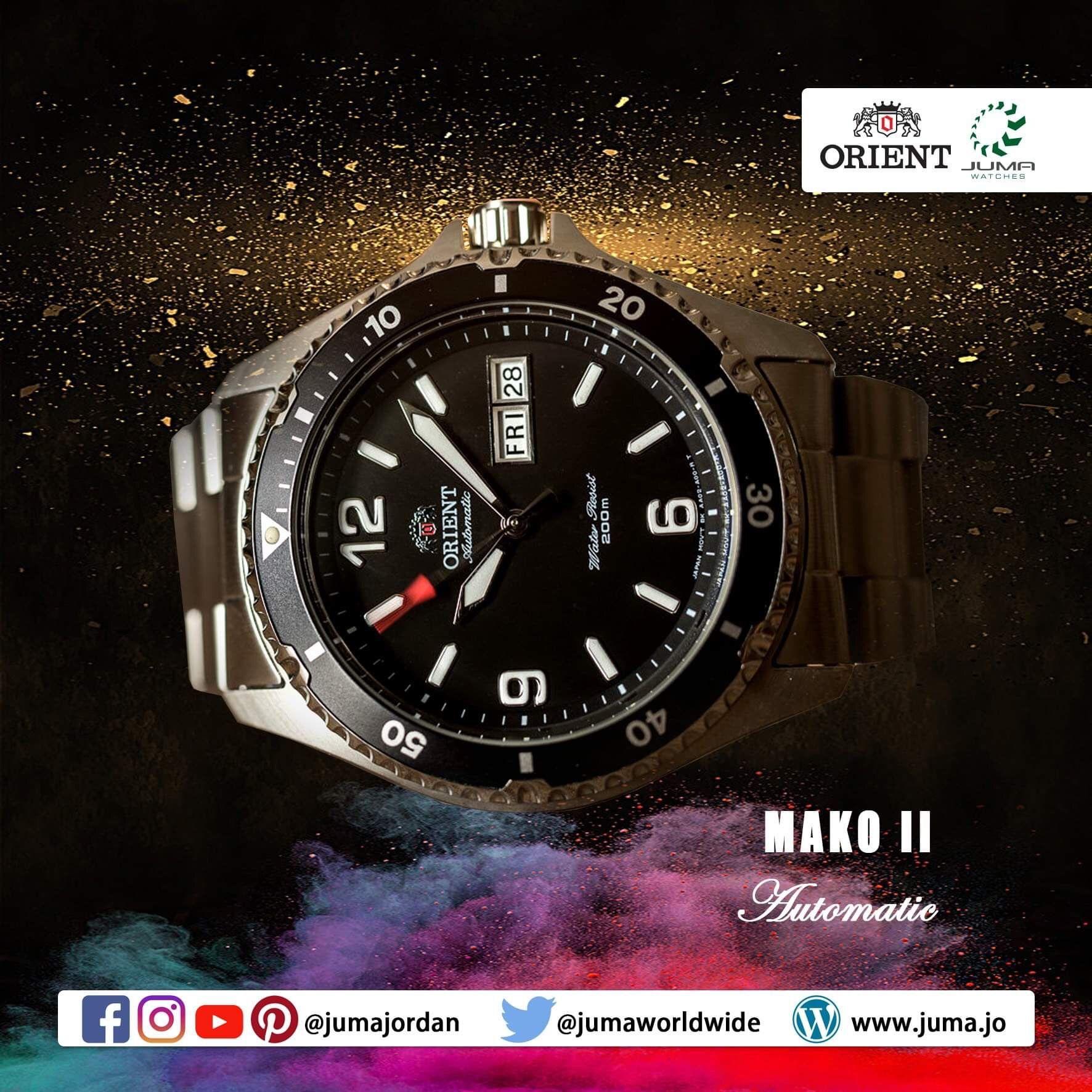 Orient Mako Ii Diving Mechanical Sports Watch Metal