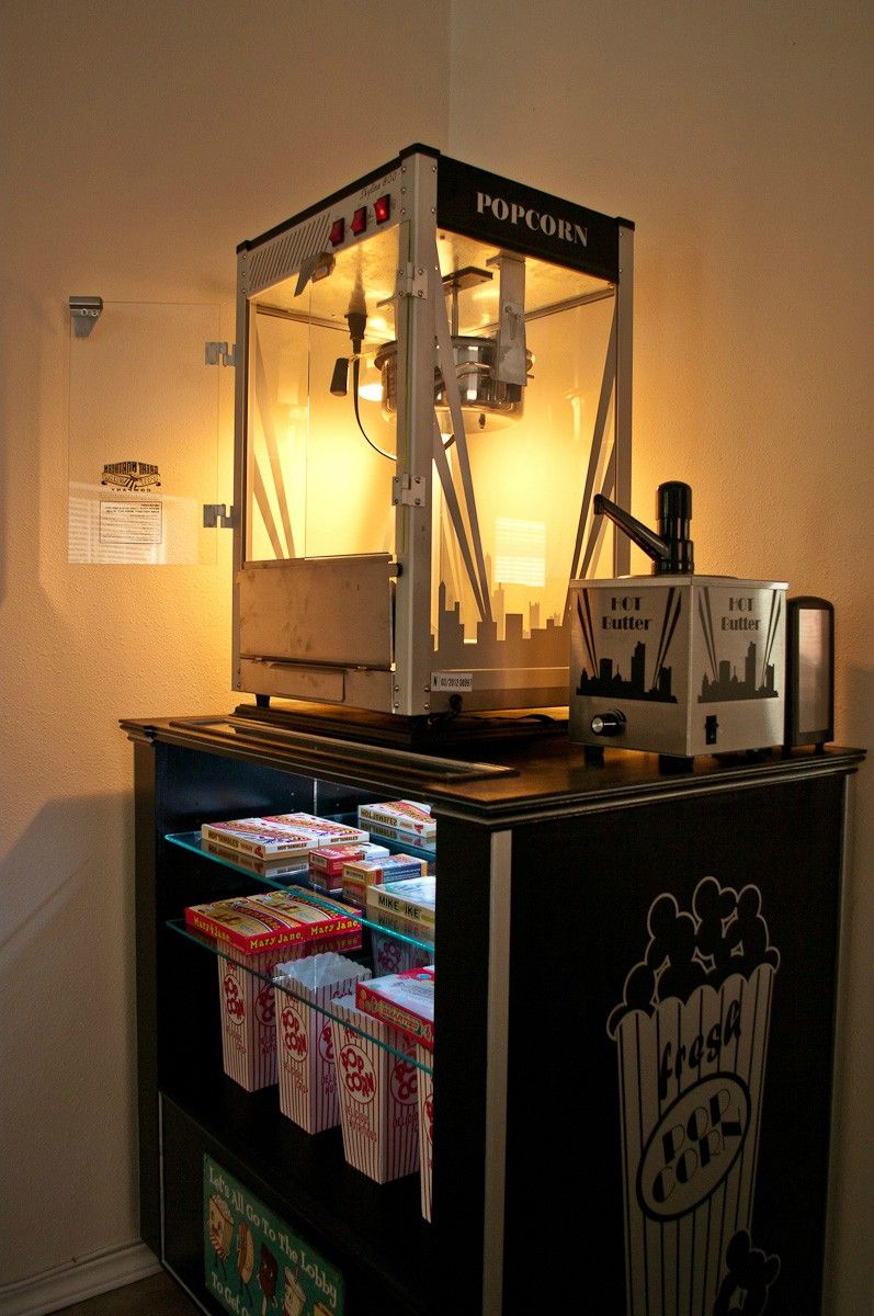 Diy Concession Popcorn Machine Stand Home Cinema Room Movie Room Decor At Home Movie Theater