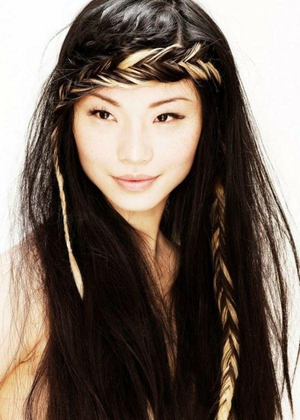 Schone lange dunkle haare