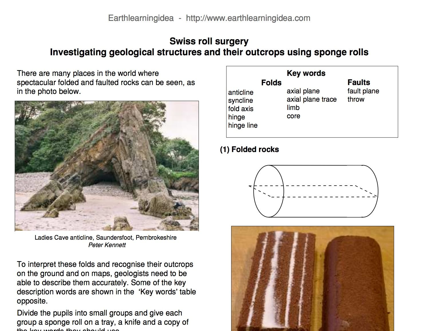 Swiss Roll Surgery Investigating Geological Structures And