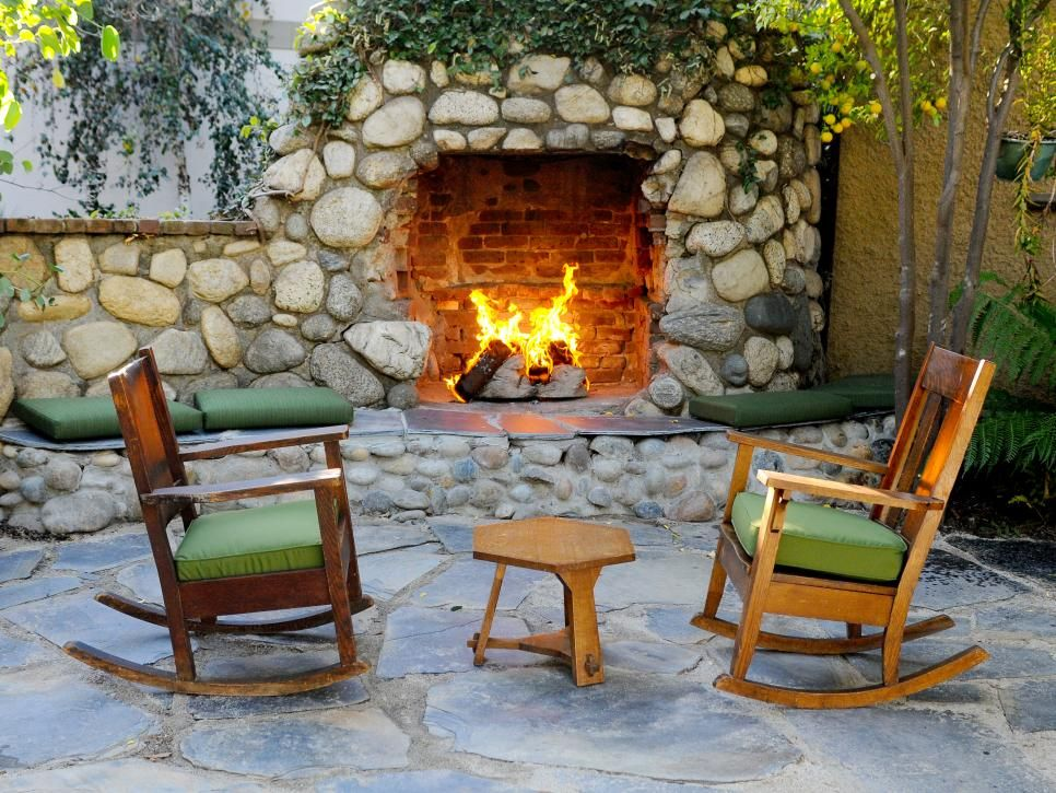 Rooms Viewer Rustic Patio Outdoor Fireplace Outdoor Seating Areas