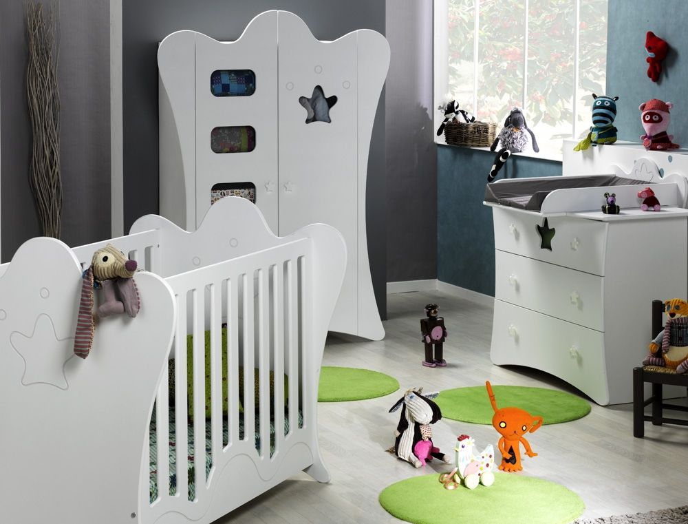 Mobilier Chambre Bebe Complete King Blanc