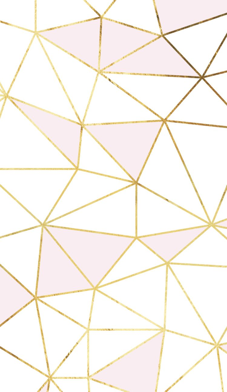 Wallpaper iphone pineapple - Pink Gold White Geometric Mosaic So Much Fun