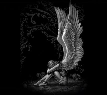 download free sad angel wallpapers for your mobile phone