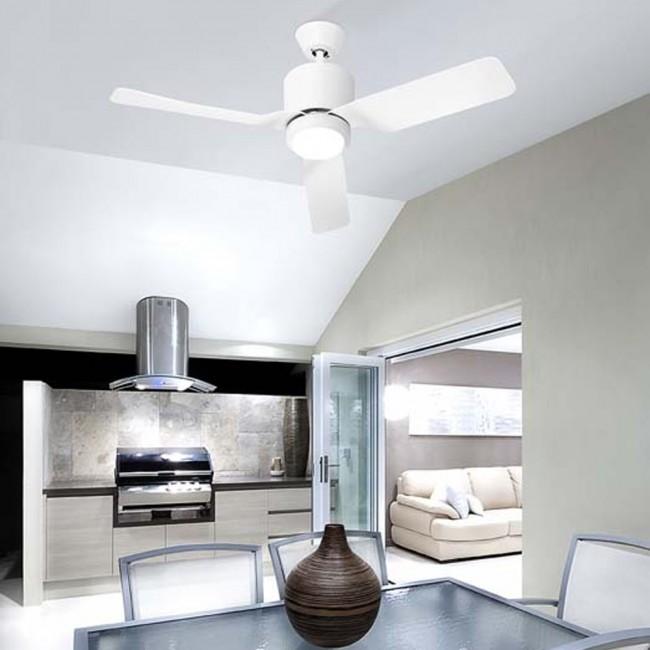 Ventilador de techo Vera blanco Leds c4. Luz LED 15w
