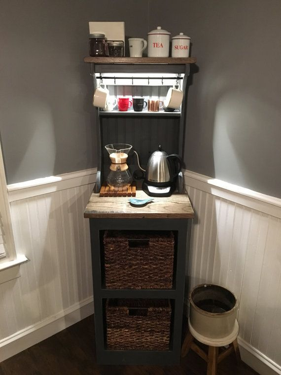 Eddie Mini Lighted Coffee Bar In 2019 Diy Amp Home
