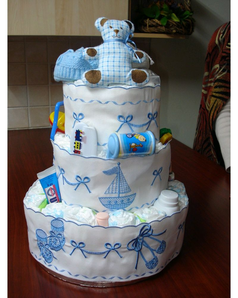 Baby Heirloom Diaper Cake Diaper Cake Boy Baby Gifts