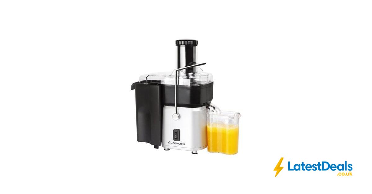 Cookworks Whole Fruit Juicer StSteel Lowest Price Free C+