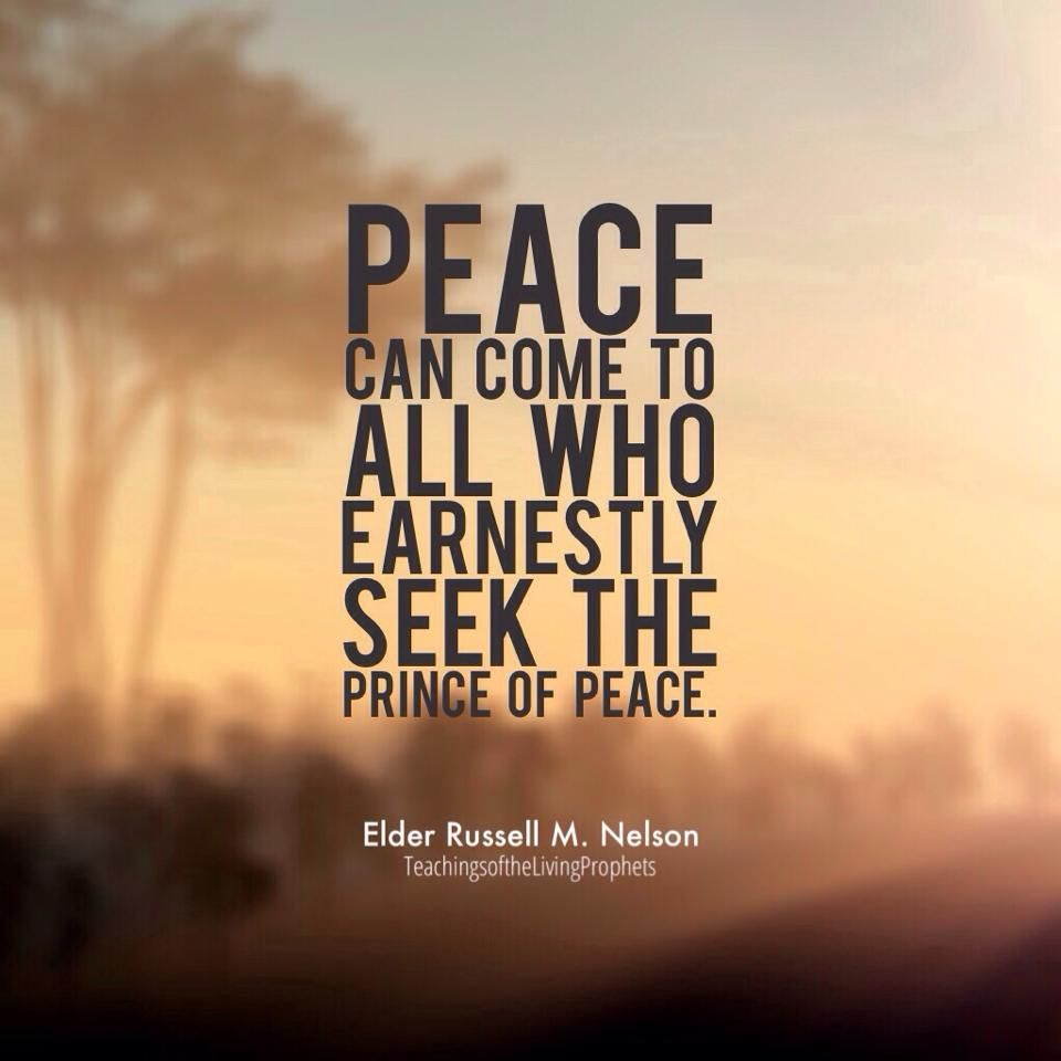 """Lds Quotes On Peace: """"The Best Thing About Living A Christ-centered Life Is How"""