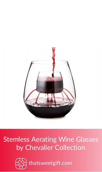 Stemless Aerating Wine Glasses By Chevalier Collection Aerating Wine Glasses Wine Glasses Wine