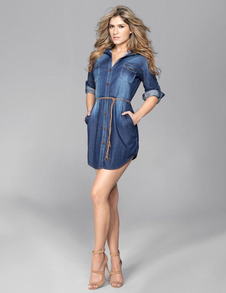 d0b6d59920 vestidos de jeans 2015 - Buscar con Google