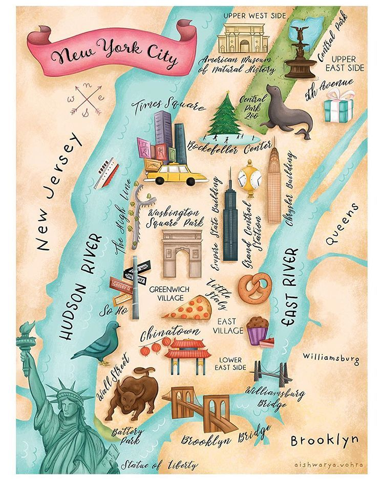 Really Happy With How This Illustrated Map Of New York Turned Out