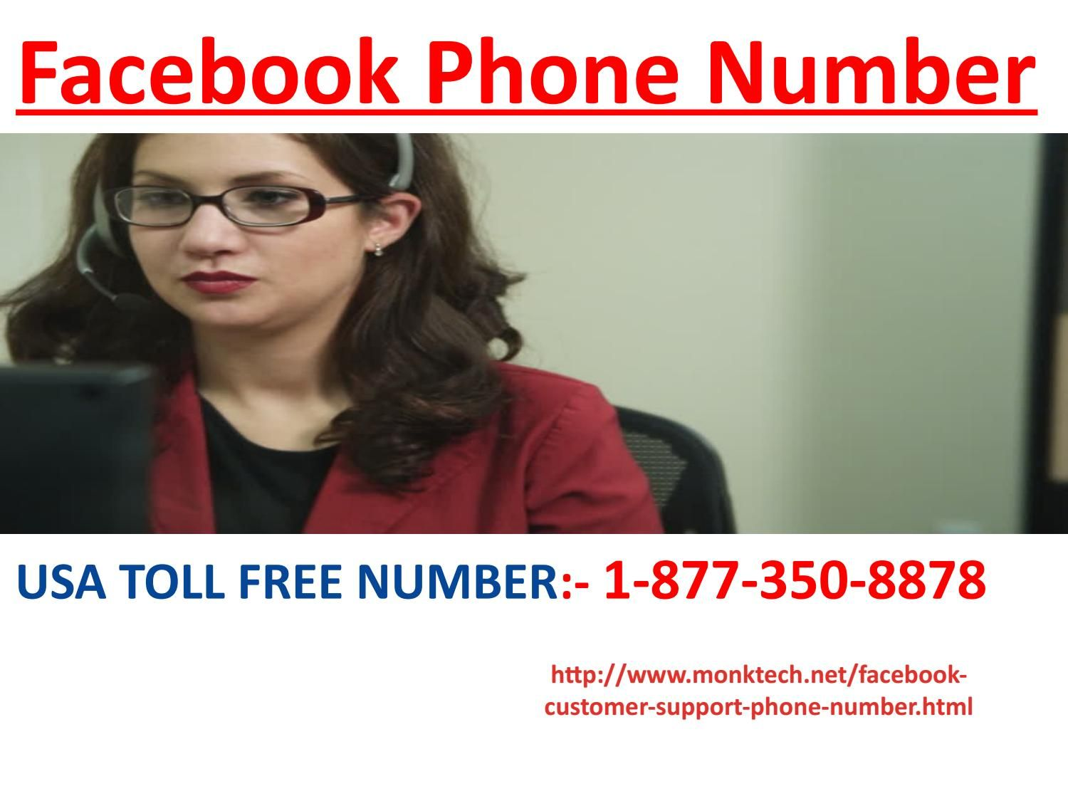 Dial Facebook Phone Number if you're FB Login Page is not