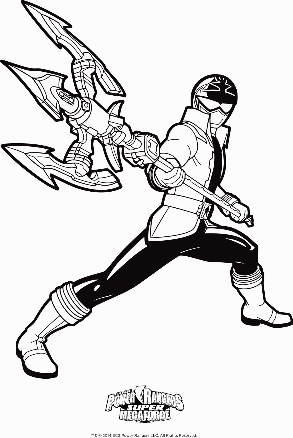 power rangers megaforce coloring pages # 3