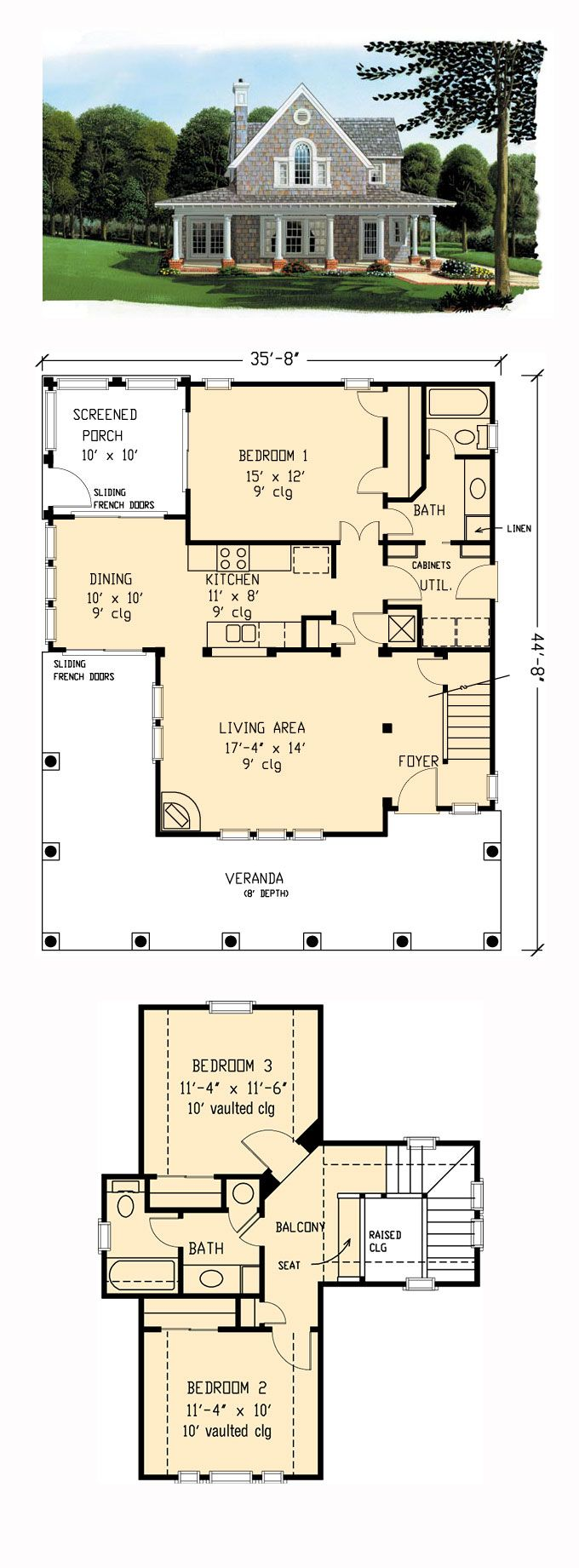 Farmhouse style cool house plan id chp total living area