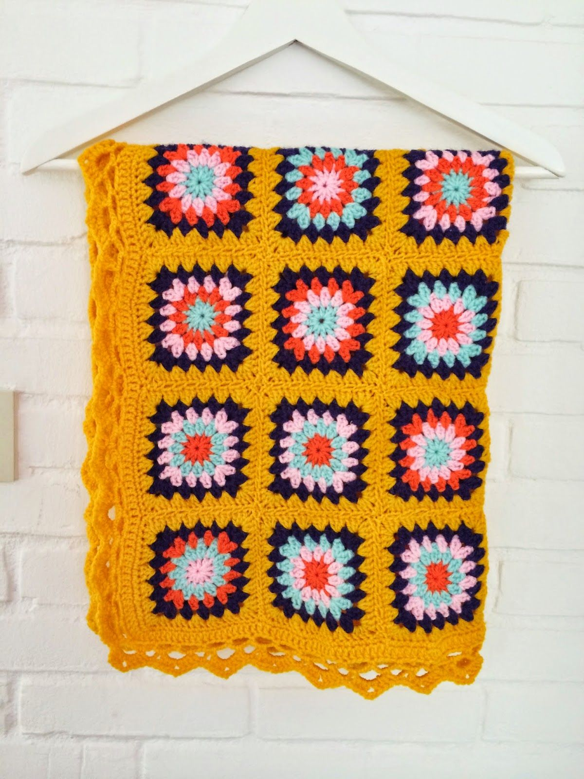 WIMKE : Yellow summer blanket | haakspiratie | Pinterest | Decken ...