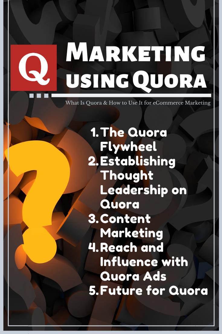 Quora Marketing Strategies Ecommerce Marketing Guerilla Marketing Marketing Podcasts