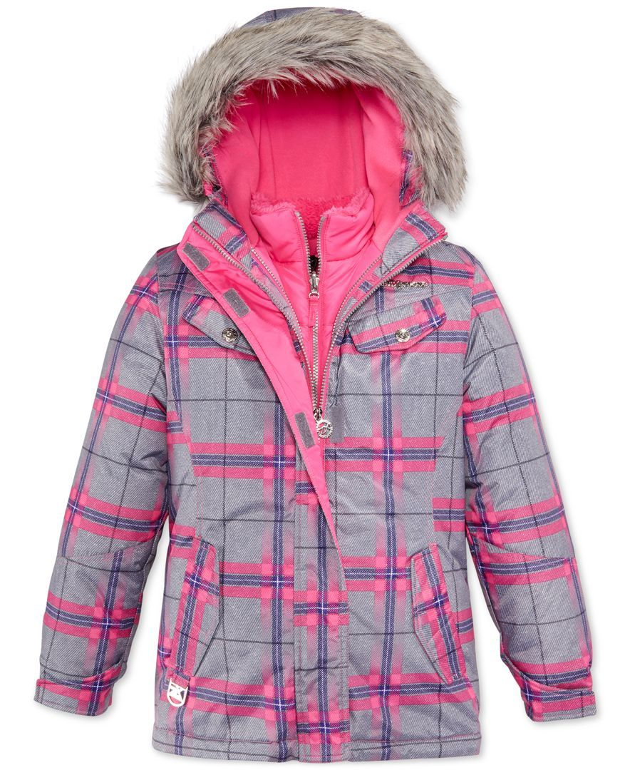 ae214d7ff ZeroXposur Girls  Olivia System 2-in-1 Jacket with Faux Fur Trim ...