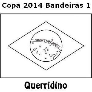Desenhos Colorir Copa 2014 Bandeiras 1 Com Imagens Bandeira
