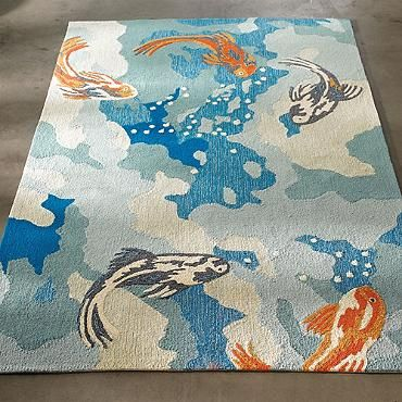 Koi Rug Home Decor
