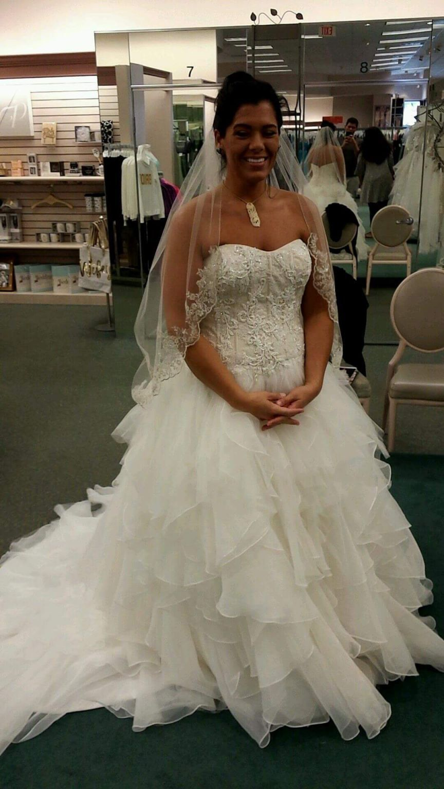 15d63aeb9492 Oleg Cassini cwg568 14 Mermaid Wedding, Lace Weddings, Lace Wedding Dress