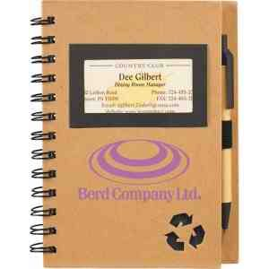 Eco Star Notebook And Pen Made Of Recycled Materials Spiral