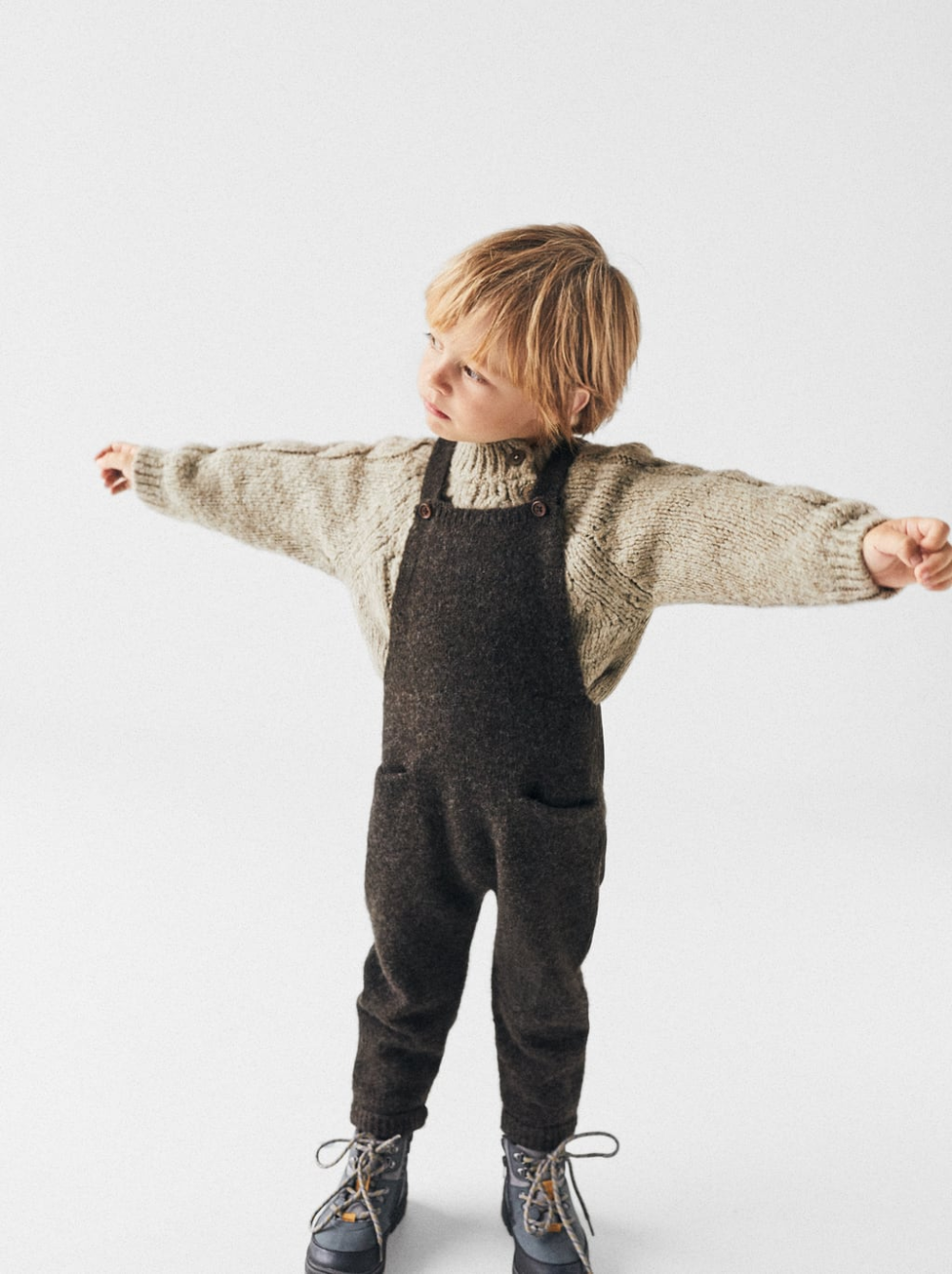 Photo of BLENDED KNIT OVERALLS