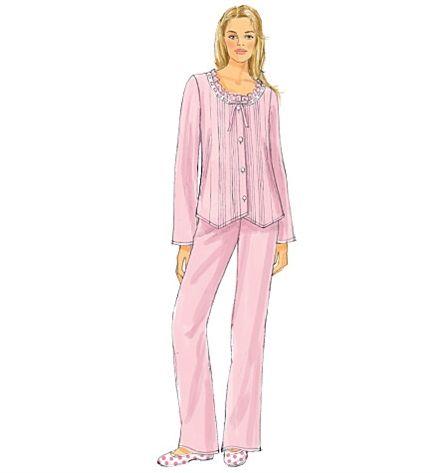 Patron de haut, chemise de nuit, short et pantalon - Butterick 6225