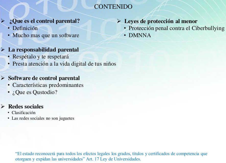 temas para control parental Redes sociales, Software
