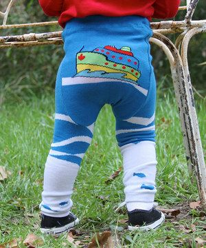 Loving this Lucy Leggings Blue & White Ship Leggings - Infant on #zulily! #zulilyfinds