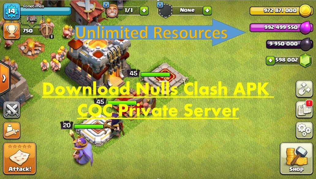 Download nulls clash apk private server server private