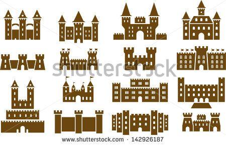 Set of vectorized Castles - stock vector