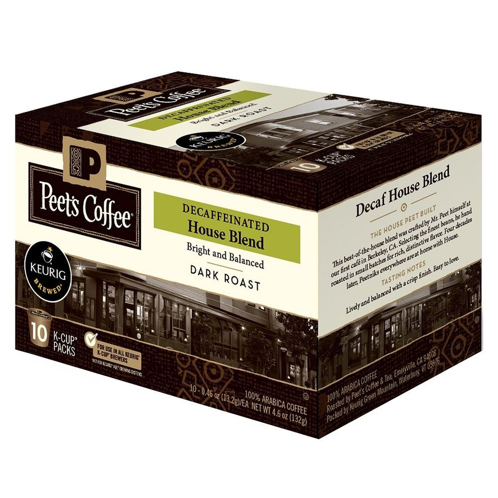 Details about peets coffee house blend decaf dark roast