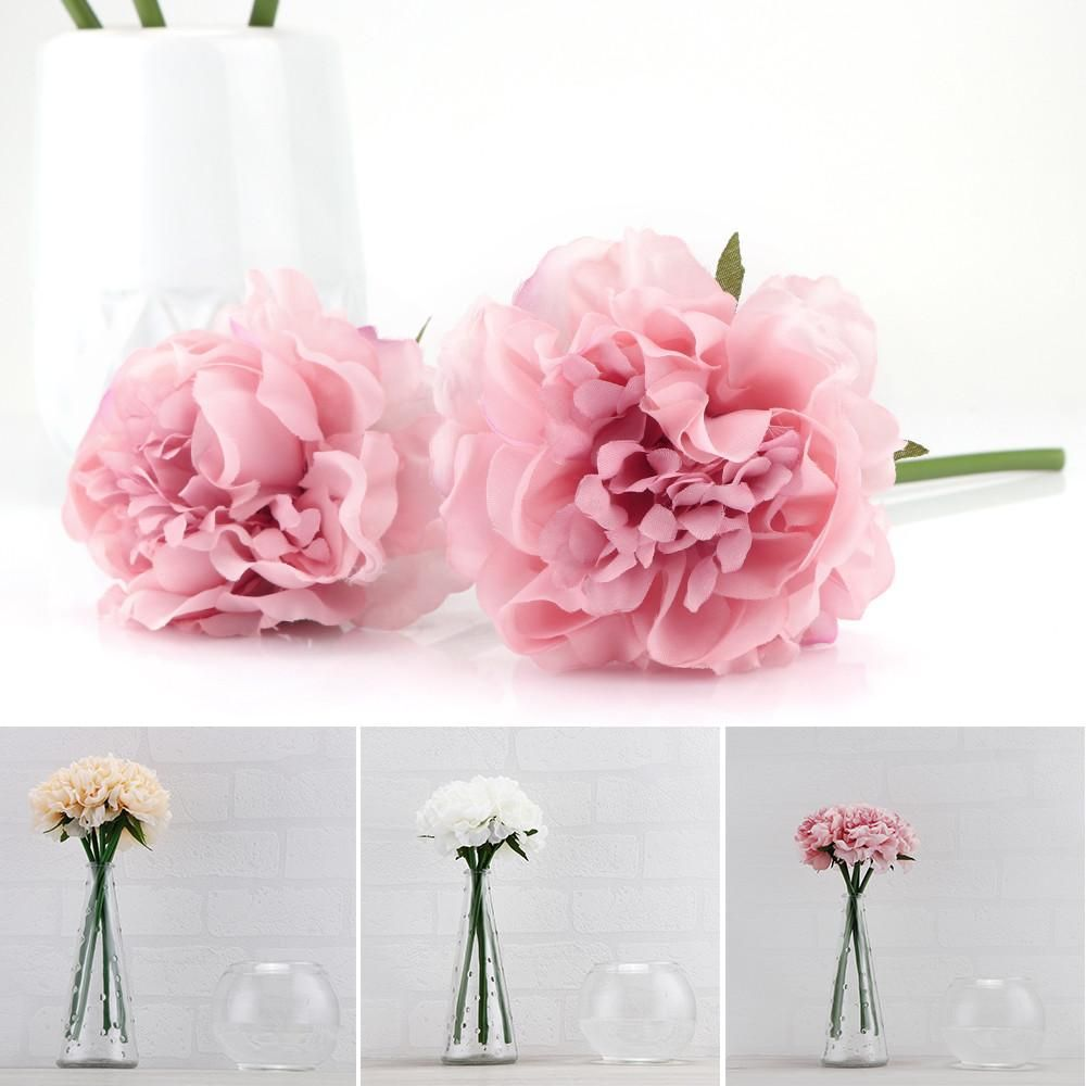 Home decor artificial flowers  Artificial Peony Flower Fake Floral Hydrangea for Wedding Bridal