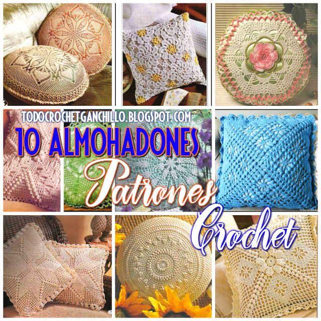 10 patrones de cojines para tejer con ganchillo | Crochet y Dos ...