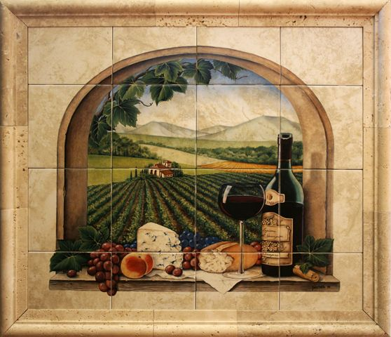 Tuscan Style Mural Backsplash For The Kitchen