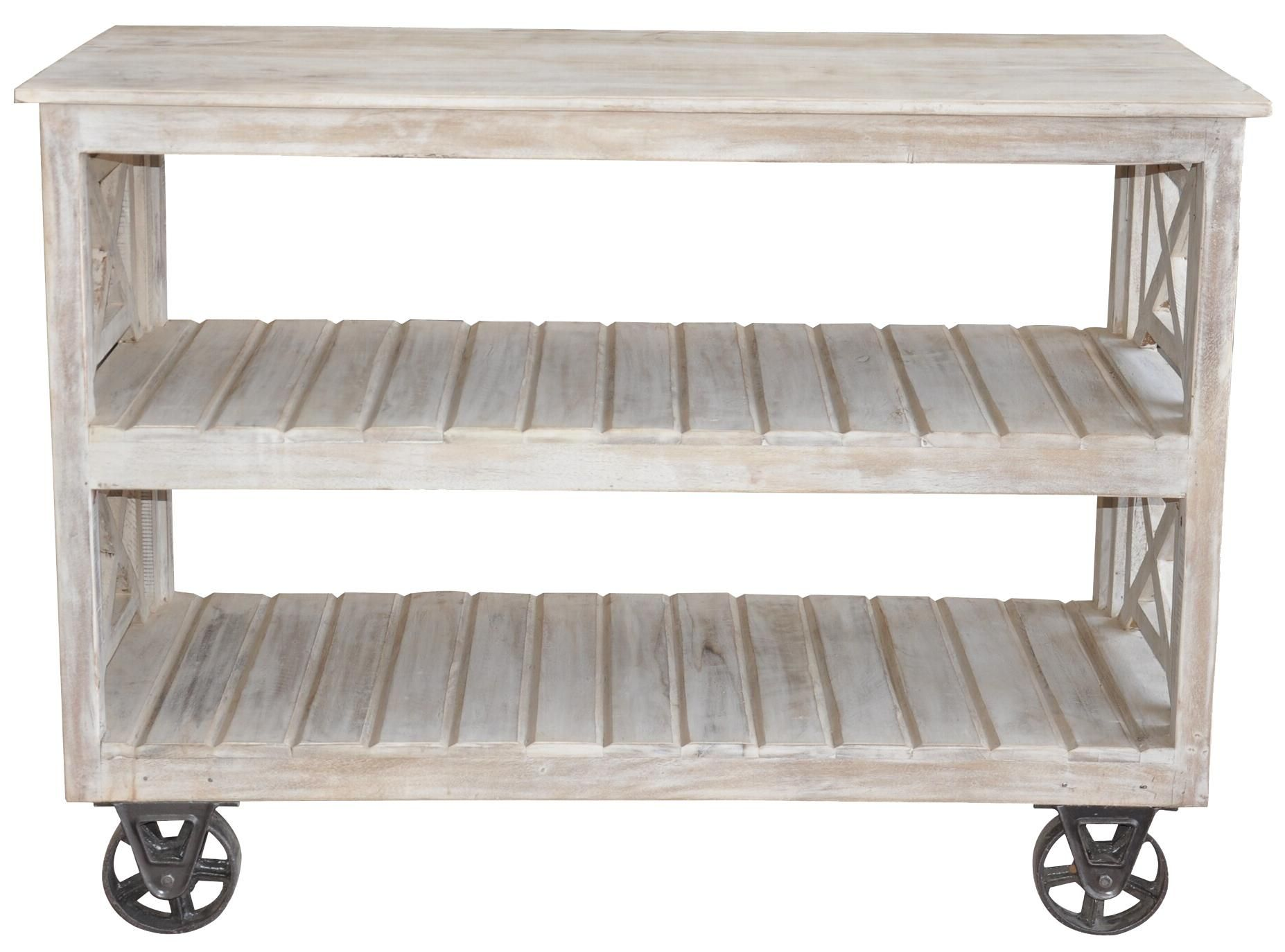 Reclaimed Wood Metal Storage Grid | ... Reclaimed Wood Wheeled Console Table  Bookcase Reclaimed