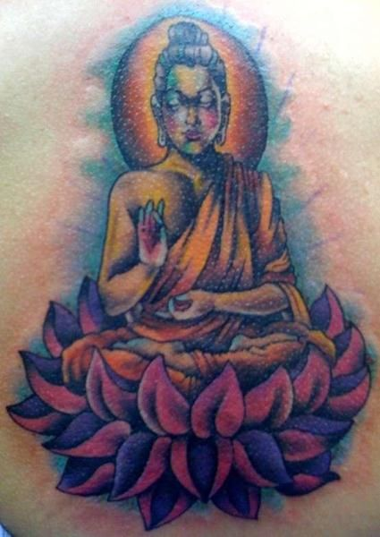 4 laos buddha tattoo with lotus design buddha tattoo for Laos tattoo designs
