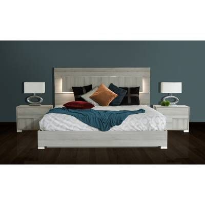 Best Birch Lane™ Heritage Eugenio Upholstered Panel Bed 640 x 480