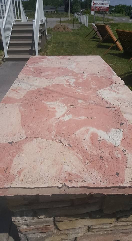 Faux Pink Marble Polished Countertop Marble Polishing Pink