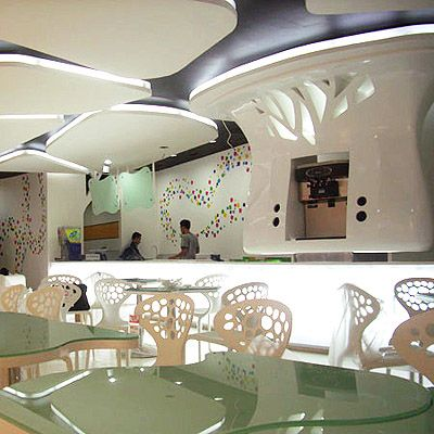 Interior Design of Yogurt Shops Yogurt shop Yogurt and Wall finishes
